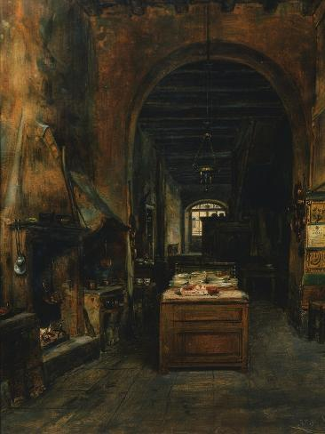 Inside a Tavern in Bergamo, Italy Giclee Print