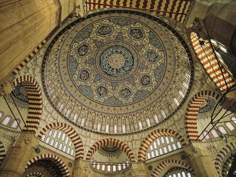Interior Dome of Sultan Selim II Mosque, 1569-1575 Giclee Print