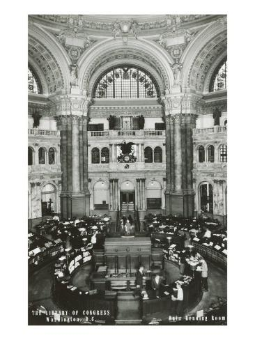 Interior, Library of Congress, Washington D.C. Art Print