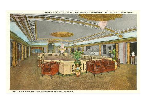 Interior, Loew's Theatre, New York City Art Print
