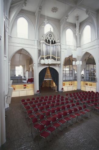 Interior of Amstelkerk (Amstel Church), Amstelveld, Amsterdam, Netherlands Lámina fotográfica