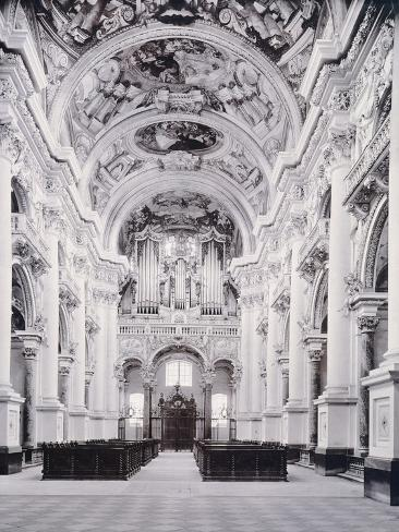 Interior of St Florian Abbey, Austria 20th Century Giclee Print