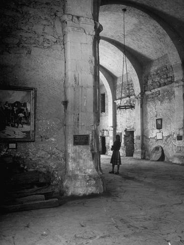 Interior of the Alamo Photographic Print