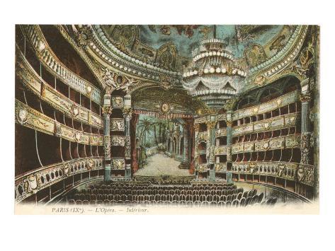 Interior, Opera House,Paris, France Art Print