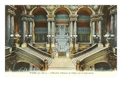 Interior, Paris Opera House, France Art Print