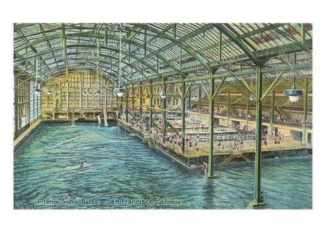 Interior, Sutro Baths, San Francisco, California Art Print