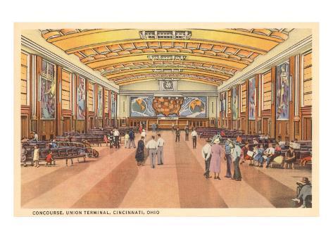 Interior, Union Terminal, Cincinnati, Ohio Art Print