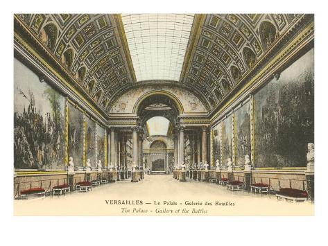 Interior, Versailles Palace, France Art Print