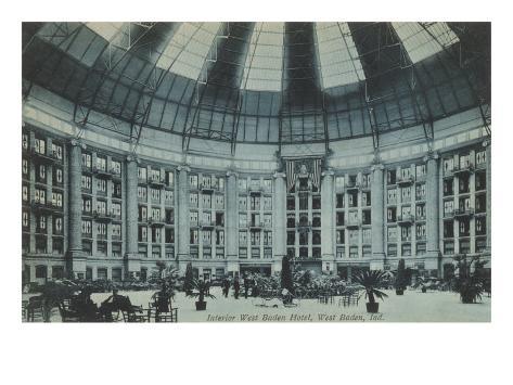 Interior, West Baden Hotel, Indiana Art Print