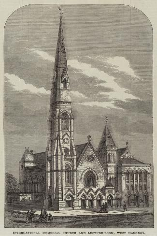 International Memorial Church and Lecture-Room, West Hackney Giclee Print