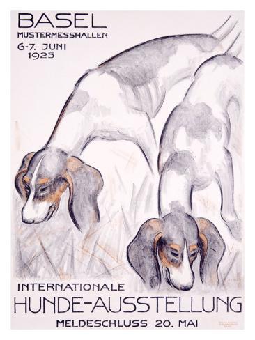 Internationale Hunde-Ausstellung Giclee Print