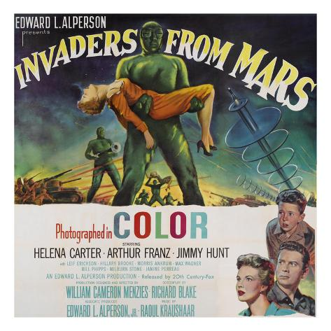Invaders From Mars, Bottom Left From Top: Jimmy Hunt, Arthur Franz, Helena Carter, 1953 Photo