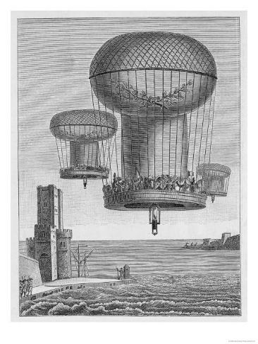 Invasion Plans, The Thiloriere is a Huge Hot-Air Balloon Lámina giclée