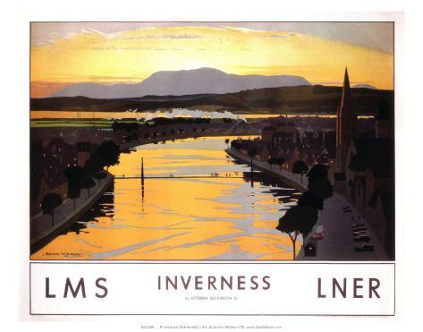 Inverness, LMS/LNER, c.1923-1947 Art Print