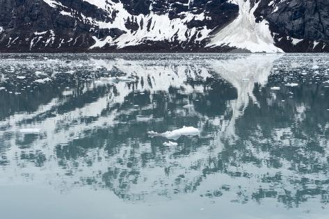 Reflection of a Glacier in the Ocean in Glacier Bay National Park Photographic Print
