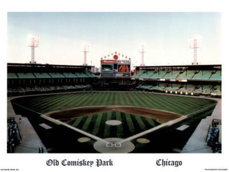 Ira Rosen Chicago White Sox Old Comiskey Park Sports Poster Print Mini Poster