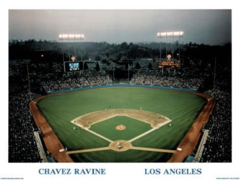 Ira Rosen Los Angeles Dodgers Chavez Ravine Sports Poster Print Mini Poster