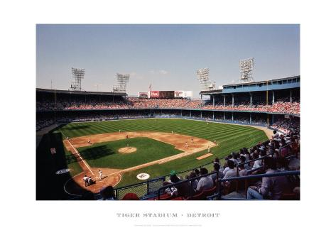 Tiger Stadium, Detroit Art Print