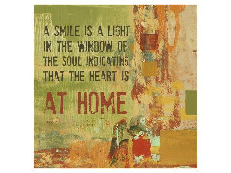 A Smile is a Light in the Window of the Soul Art Print