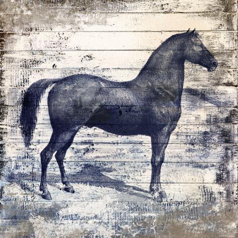 Black Horse I Stretched Canvas Print