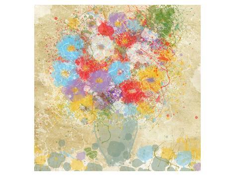 Bright Flowers II Art Print