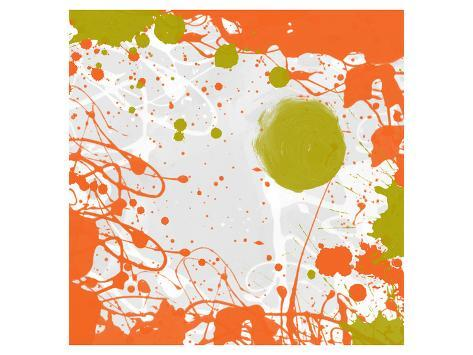 Green Orange Garden I Art Print
