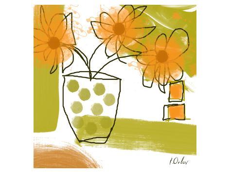 Orange Mood I Art Print