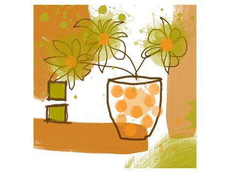 Orange Mood II Art Print