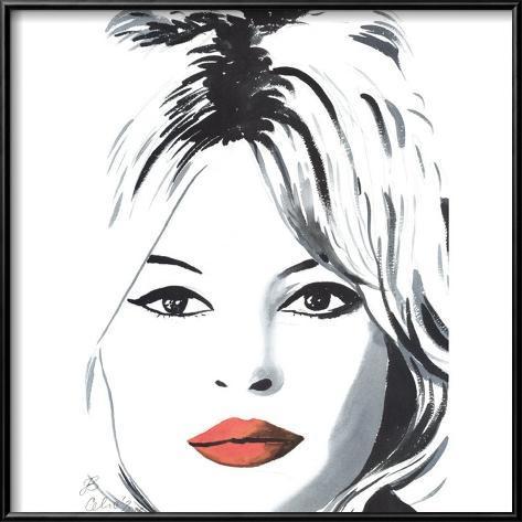 Bardot Framed Art Print