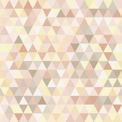 Triangle Neutral Abstract Background Art Print