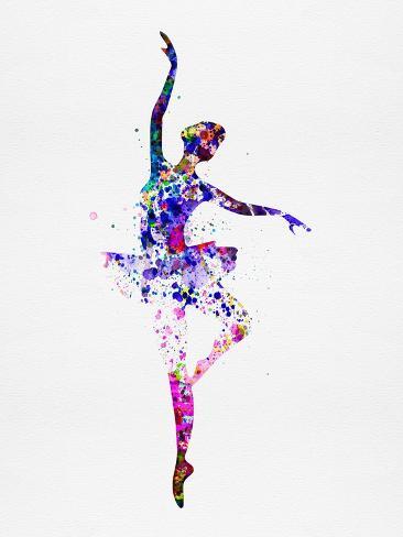 ballerina dancing watercolor 2 prints by irina march at allposters com