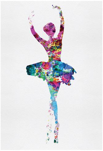 ballerina watercolor 1 posters by irina march at allposters com