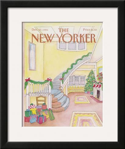 The New Yorker Cover - December 22, 1986 Framed Giclee Print