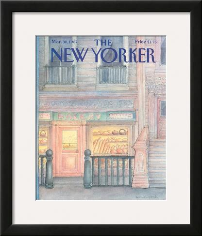 The New Yorker Cover - March 30, 1987 Framed Giclee Print