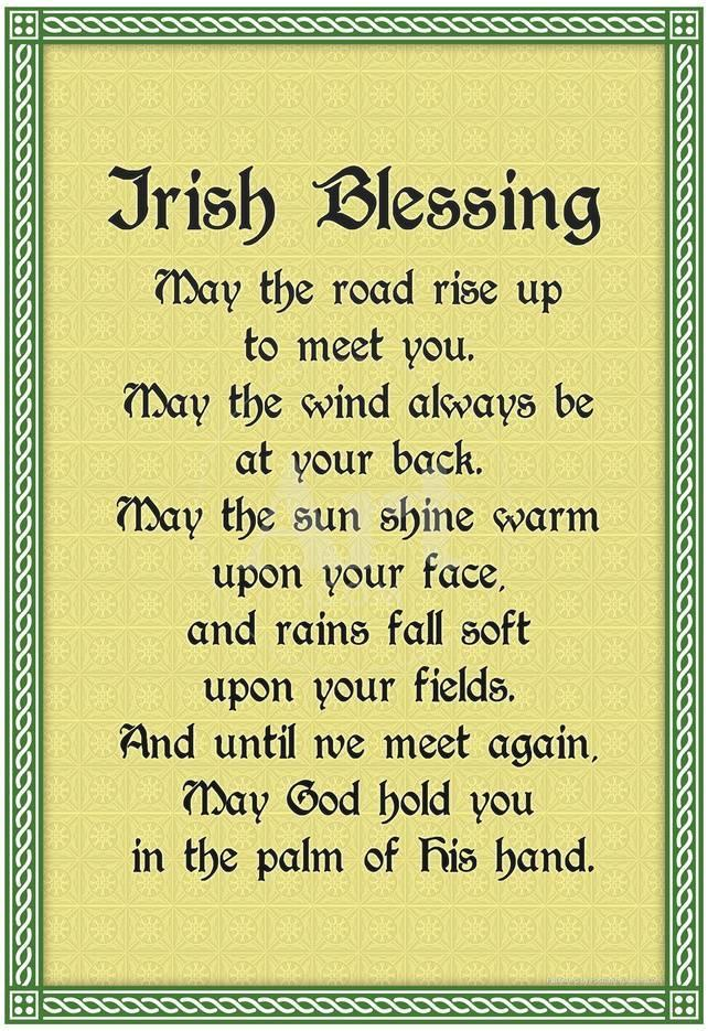 Irish Blessing Art Print Poster Print - at AllPosters.com.au