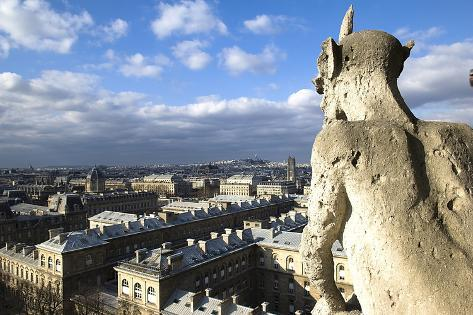 Stone Chimere of Notre-Dame Photographic Print