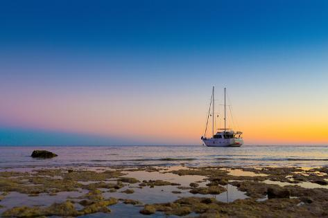 Sailing with a Beautiful Sunset Photographic Print