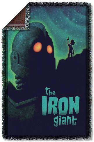 Iron Giant - Look To The Stars Woven Throw Throw Blanket