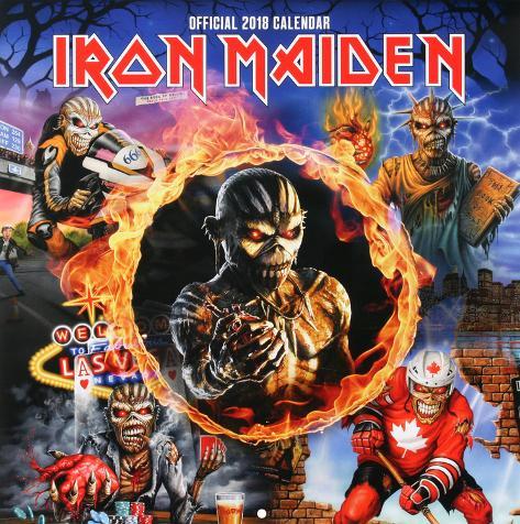 Iron Maiden 2018 Calendar Calendars Allposters Co Uk
