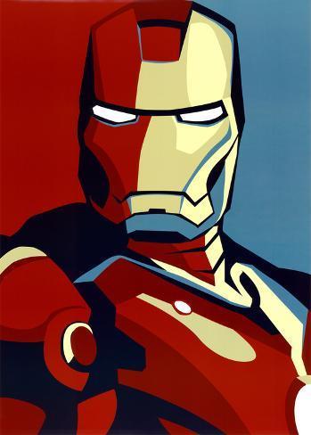 Iron Man 2 Movie (Artistic Stylized Iron Man) Art Poster Print Poster