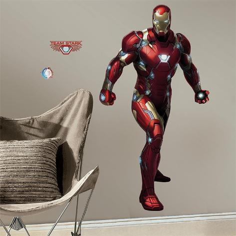 Iron Man Civil War Peel and Stick Giant Wall Decals Wall Decal