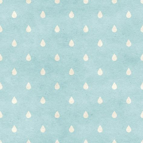 Seamless Raindrops Pattern on Paper Texture. Basic Shapes Backgrounds Collection Art Print