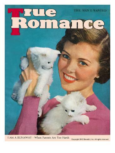 True Love Stories Vintage Magazine- March 1950 - Ektachrome Stretched Canvas Print