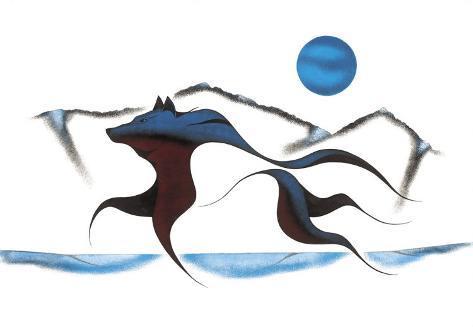 Wolf Spirit II Giclee Print