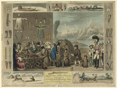 Laplanders, Reindeer Etc., as Exhibited at the Egyptian Hall, Piccadilly, 1822 Giclee Print
