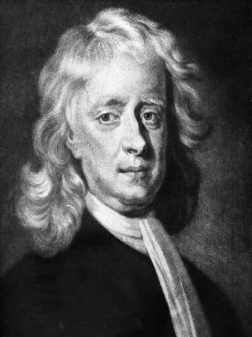 Isaac Newton (1642-172), English Mathematician, Astronomer and Physicist Giclee Print