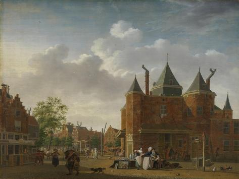 View of Saint Anthony Waag on the Current Nieuwmarkt in Amsterdam Premium Giclee Print