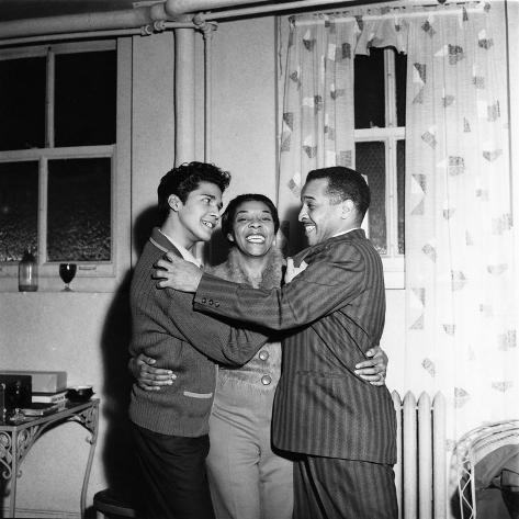 Dinah Washington, Rafael Campos, Eddie Chamblee - 1963 Photographic Print
