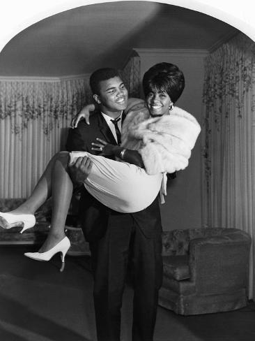Muhammad Ali and Sonji Clay - 1967 Photographic Print