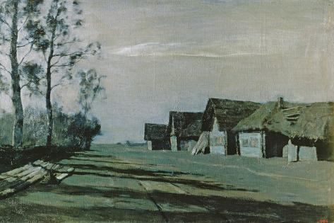 Village by Moonlight, 1897 Lámina giclée